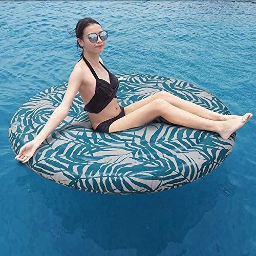 QSs-Ⓡ Imprimir Flotador de natación Inflable, Fila Flotante para Adultos Fila Flotante...