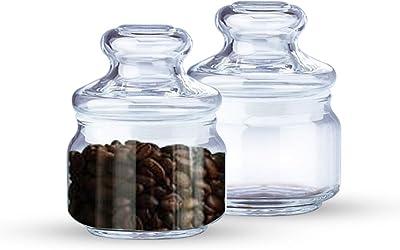 OCEAN 2-Piece Glass Round Pop Jar Set -325 ml
