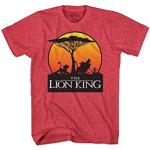 Disney Lion King Sunset Pride Stroll Africa Simba Mufasa Disneyland World Tee Adult Men's Graphic T-Shirt Apparel (Red Heather, Large)
