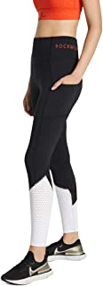 Rockwear Activewear Women's Samba Fl Blocked Tight Black 14 from Size 4-18 for Bottoms Leggings + Yoga Pants+ Yoga Tights