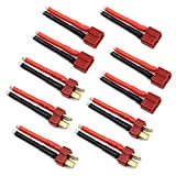 5 Pairs T Plug Connector Female and Male Deans with 14AWG Silicon Wire for RC Lipo Battery Cable Drone