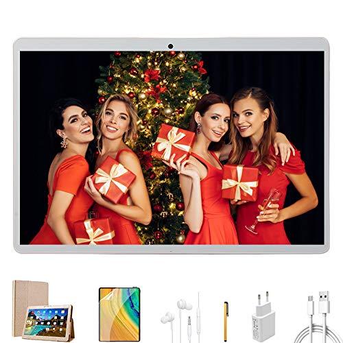 Tablette Tactile 10 Pouces, 4G Android 9.0 Octa-cœurs 32 Go de Mémoire et 3Go de RAM Dual SIM/ WiFi,GPS,Bluetooth,OTG,Netflix VOUKOU (Or/3+32GB)