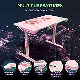 EUREKA ERGONOMIC I1-S Gaming Desk – 45 Zoll (Pink) - 5