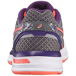 ASICS Women's Gel-Excite 4 Running Shoe, Shark/Flash Coral/Parachute Purple, 8.5 M US