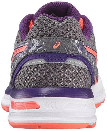 ASICS Women's Gel-Excite 4 Running Shoe, Shark/Flash Coral/Parachute Purple, 8.5 M US