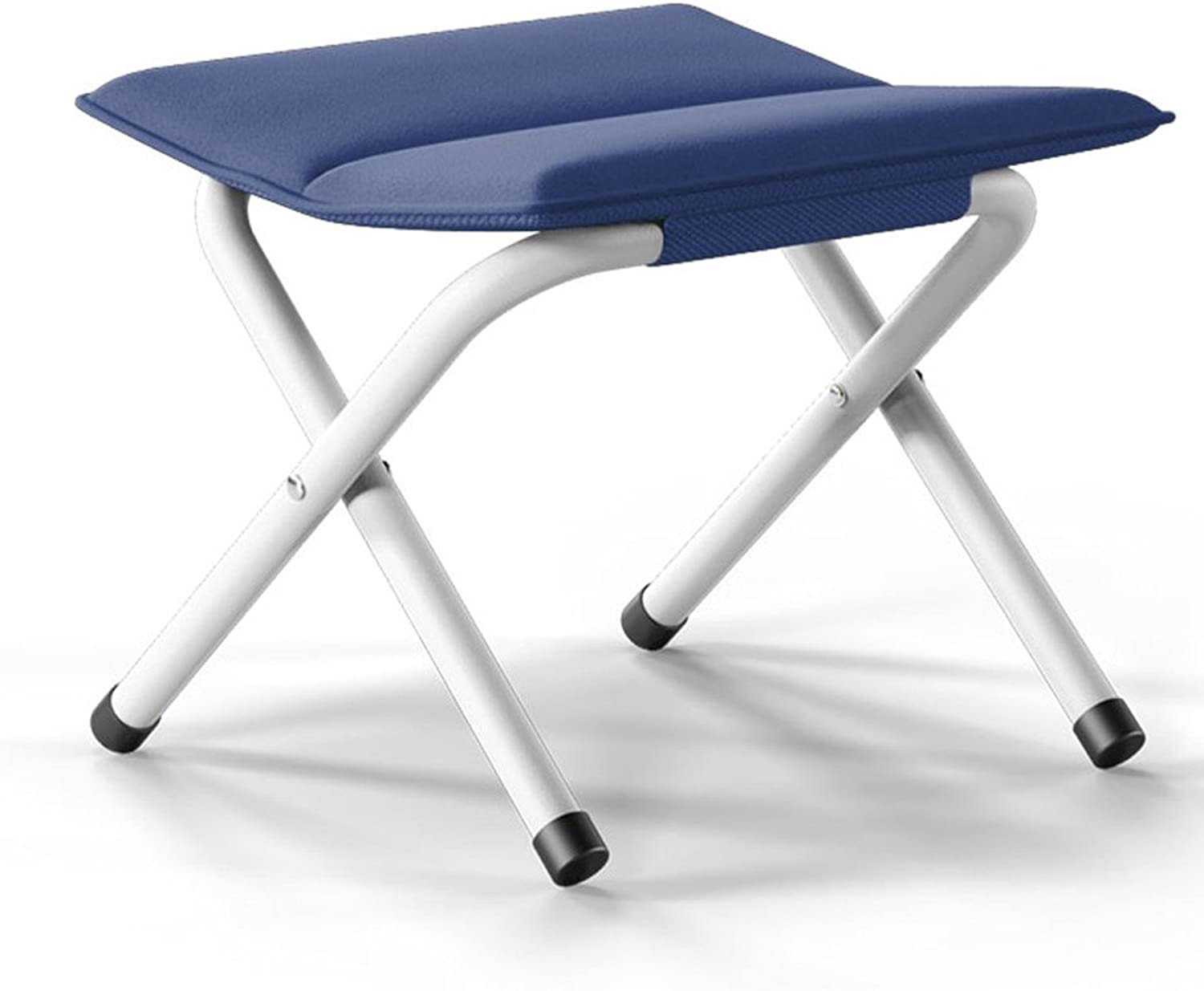Portable Folding Stool, Thicker Chair, Fishing Horse Bar, Adult, Outdoors, Train Bench, Changing shoes Stool ( color   Navy )