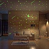 Lot de 500 étoiles brillantes et étoiles lumineuses pour chambre d'enfants, étoiles lumineuses et étoiles lumineuses pour créer un ciel étoilé réaliste, décoration de chambre, stickers muraux