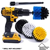 Product Image of the Drill Brush Attachment Power Scrubber Set with 6in Extender for a Cleaner Home. These scrubbing Brushes can Clean The Bathroom, tub, Kitchen, Shower, Grout, Tile. **Drill not Included**