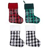 Haijun 4 Unids/Set Bolsa De Dulces De Regalo De Copo De Nieve Con Huella De Calcetín De Navidad Árbol De Navidad Colgante