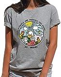 Gli Animali Domestici Sono Amici Non Vegetariani Cibo T-Shirt Regalo per Vegetariani