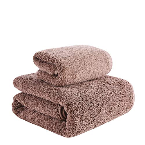 nohbi Hojas de baño extragrandes Jumbo,Juego de Toallas de algodón para el hogar, Toalla de baño de Dos Piezas, marrón,Set de Regalo Bale de Toallas de baño