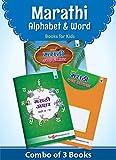 Nurture Marathi Alphabets and Words Learning Books for Kids | 3 to 7 Year Old | Practice Marathi Mulakshare, Barakhadi, Letter/Akshar Lekhan | Reading and Writing Books for Children | Set of 3