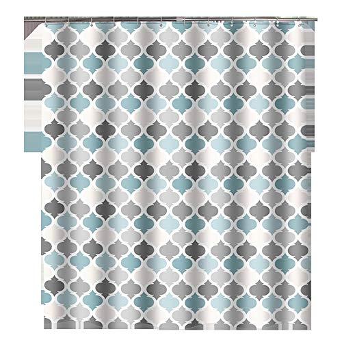 Cortina de ducha gruesa impermeable simple cortina de ducha de poliéster impermeable cortina de baño cortina de ducha impermeable y a prueba de moho (color: multicolor, tamaño: 180 x 200 cm)