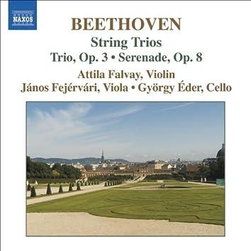 BEETHOVEN, L. van: String Trios (Complete), Vol. 1 (Falvay, Fejervari, Eder) - Opp. 3 and 8