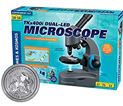 Best Toys for 10 year Old Boys-Thames & Kosmos TKx400i Dual LED Microscope