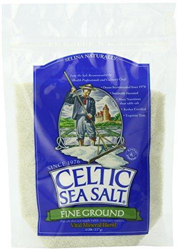 Celtic Sea Salt, Fine Ground, 8 Ounce Resealable Bag, PACK OF 6