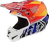 Troy Lee Designs SE4 Composite Jet - Casco de motocross (talla S, 55/56), color naranja y azul