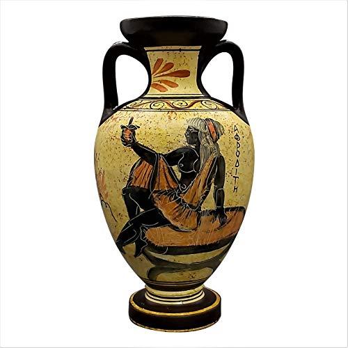 Griechische Keramik Amphora Vase Topf Gefäß Malerei Göttin Aphrodite 22 cm