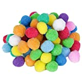 80pcs Pompones Bolas Coloreadas Redondas Colored Round Pompon Ball bola fieltro