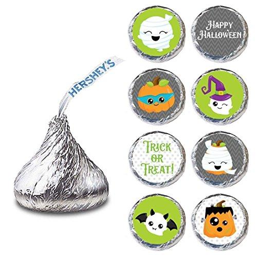 Halloween Label für HERSHEY'S KISSES ® Pralinen - Trick or Treat Urlaub Süßigkeiten Aufkleber - Set von 240