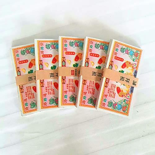 SHPEHP 275 Chinesisches duftendes Papiergeld, duftendes Papier, Ritualzubehör, Begräbnis, Qingming Festival und Hunger Festival Hell's Banknoten mit großem Nennwert-A