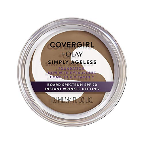 COVERGIRL & Olay Simply Ageless Instant Wrinkle-Defying Foundation, 260 Classic Tan