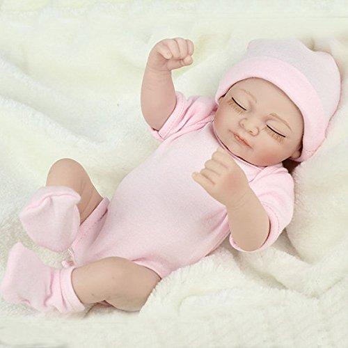 Bazaar 10inch Reborn Baby Doll Lifelike Vinyl Baby Play House Bath Toy