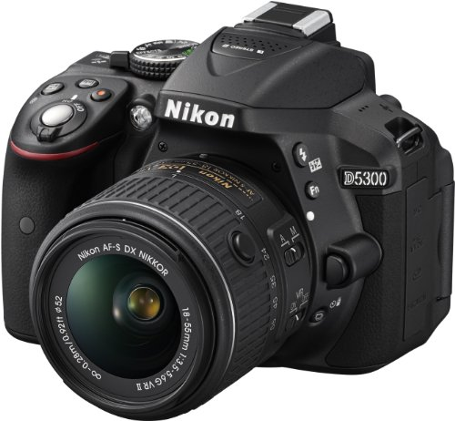 Nikon Reflex D5300 KIT 18-55 VR II Fotocamera, Lega di Alluminio/Plastica, 1 Obiettivo Incluso, Af dx/Af-s dx, Nero