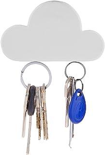 Sohapy White Cloud Shape Magnetic Wall Key Holder,Key Rack