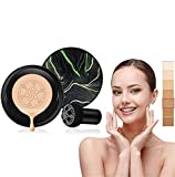 Waterproof Flaw-Less Air Cushion Foundation, Air Cushion Cc Cream Mushroom Head Foundation, Makeup Foundation Full Coverage, Even Skin Tone Makeup Base