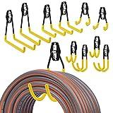 LANNIU Garage Hooks-Garage Storage Utility Hooks and Hangers,Heavy Duty Wall Mount Tool Holder for Organizing Power Tools,Ladders,Bikes,Ropes,Garden Hoses,Bulk Items