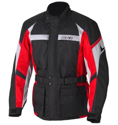 Nerve Smart Jacke, Schwarz/Rot, XL