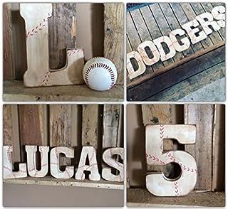 Dirty Baseball Letter, Baseball Decor for Boys Room