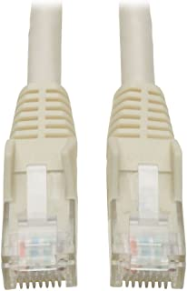 Tripp Lite Cat6 Gigabit Snagless Molded Patch Cable (RJ45 M/M) - White, 1-ft.(N201-001-WH)