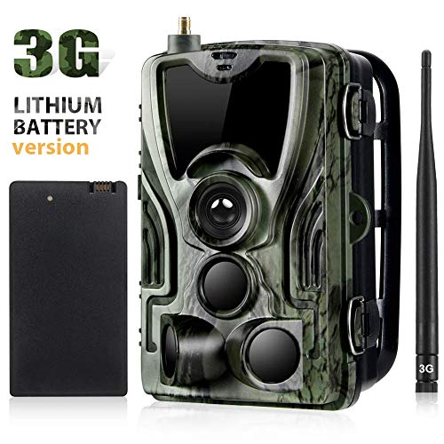 WLDOCA Li-Battery Wild Camera 16MP 1080P Full HD 3G gsm Caza Cámara Infrarrojo 27m 42 LED Visión Nocturna Detector de Movimiento 120 ° Lente Gran Angular IP65 MMS a Prueba de Agua SMTP con Tarjeta
