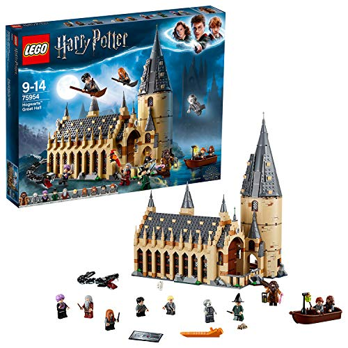 LEGO 75954 Harry Potter Hogwarts Great Hall Castle Toy, Gift Idea for Wizarding World Fan, Building Set for Kids