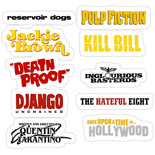 BreathNenStore Once Upon a time in Hollywood Quentin Tarantino/filmography Stickers (3 Pcs/Pack) 8407123996243