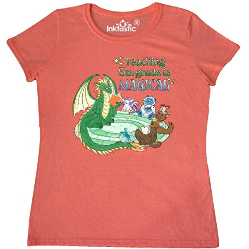 inktastic Teaching 5th Grade Women's T-Shirt XX-Large Retro Heather Coral 3c589