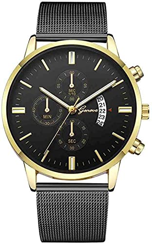 JZDH Mano Reloj Reloj de Cuarzo Reloj de Pulsera Reloj de Banda de Acero Inoxidable Moda y Mujer Casual Ver Reloj de Cuarzo Relojes Decorativos Casuales