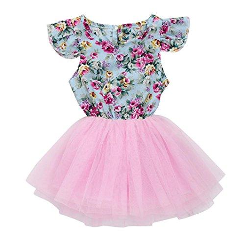 JERFER Druck Patchwork Festzug Party Prinzessin Kleid Kleinkind Kinder Baby Mädchen Kleidung