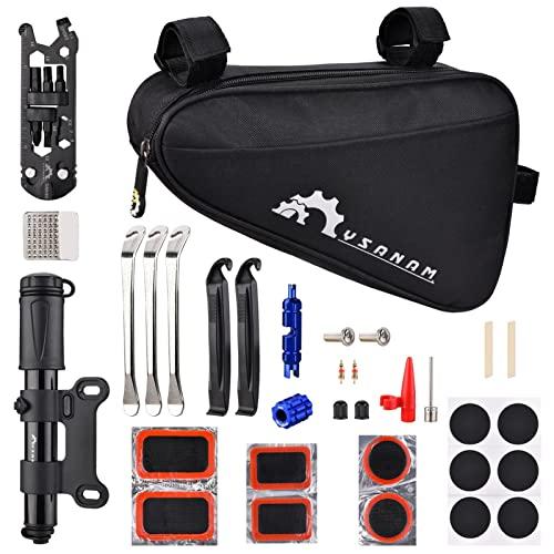 Accesorios Bicicleta Kit de reparación de bicicletas Kit de herramientas de reparación de bicicletas portátil Bolso del kit de fijación de neumáticos con herramientas Kit de herramientas de bicicleta