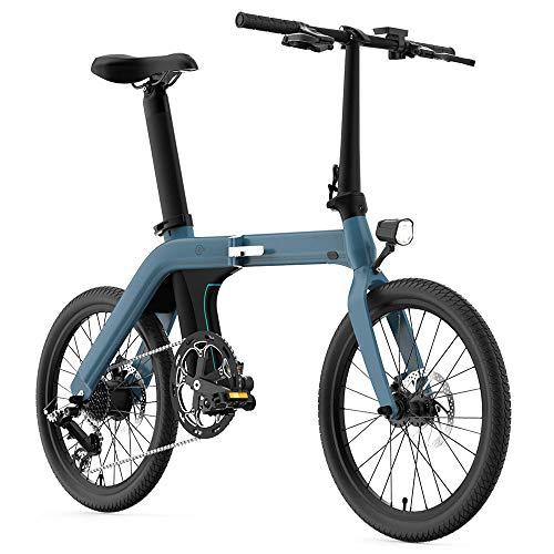 Coolautoparts Bicicleta Eléctrica Plegable 20 Pulgadas 250W 30km/h Ciclomotor Bicicleta de Ciudad/Montaña...