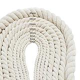 HTYG Corda in Cotone Fatti a Mano da 20 m-Filo per Maglieria Artigianale Cordone -per Appendere a Parete Appendiabiti per la casa-Foto Decorazione da Parete (12mm)