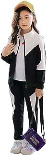 ANGELCITY 子供服 女の子 ジャージ 上下セット 2点セット シンプル 運動着 体育 ガールズ おしゃれ キッズ スウェット 長袖 スポーツウェア パーカー ジュニア アウター 春秋 カジュアル HIPHOP ダンス 衣装 A1540