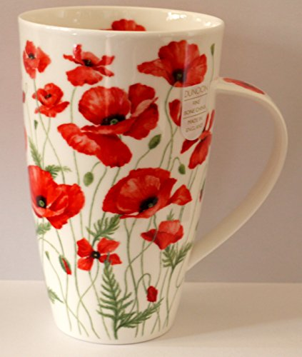 Dunoon Becher Henley Poppies Red Anne Searle