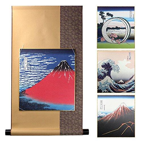 京の象 掛軸 富士世界遺産記念 色紙掛軸セット 1-682