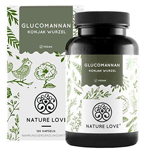 NATURE LOVE® Glucomannan aus der Konjak Wurzel - 120...
