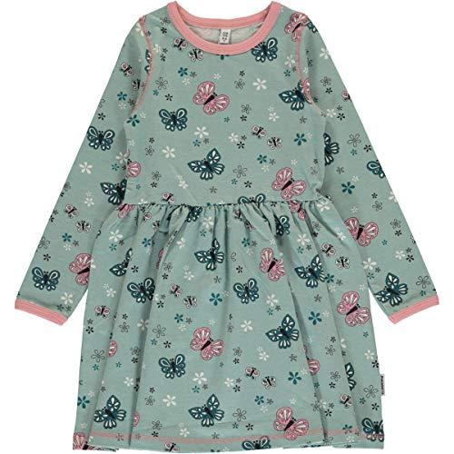 Maxomorra Langarm-Kleid aus Baumwolle Dress Spin LS (Schmetterling, 110/116)