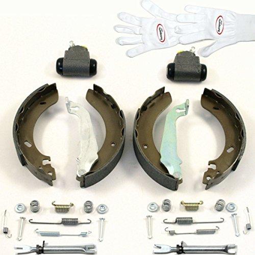 Autoparts-Online Set 60005021 Bremsbacken/Bremsen + Radzylinder + Zubehör + Nachsteller für Hinten/für die Hinterachse