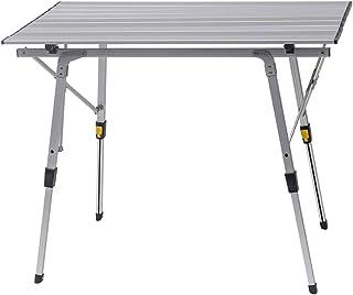 WOLTU Mesa de Camping Mesa Plegable Mesa de Jardín Mesa de Trabajo Mesa de Balcón Aluminio con Bolsa Altura Ajustable 9...
